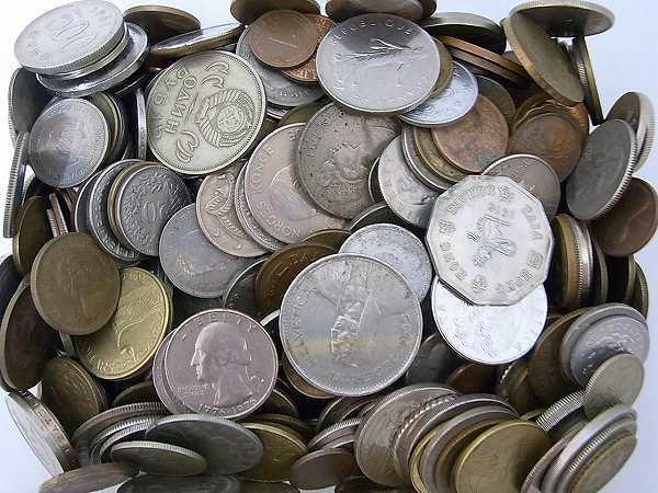 1円 外国銭 外国硬貨 未選別 約3.9kg 大量おまとめ 古銭 旧硬貨 アメリカ/ヨーロッパ/CCCP/アジア_画像4