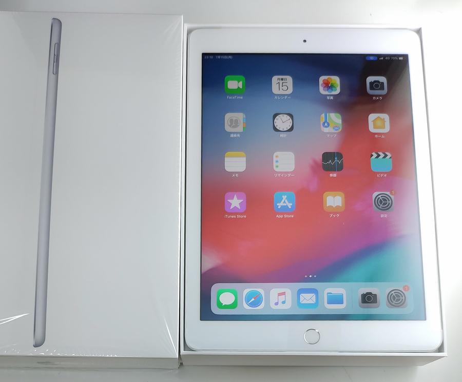 ☆新品☆Apple Au iPad 9.7インチ Wi-Fi+Cellular 2018(第6世代)32GB シルバー/本体32G/格安MVNO SIM使用可能/格安SIM月額525円から