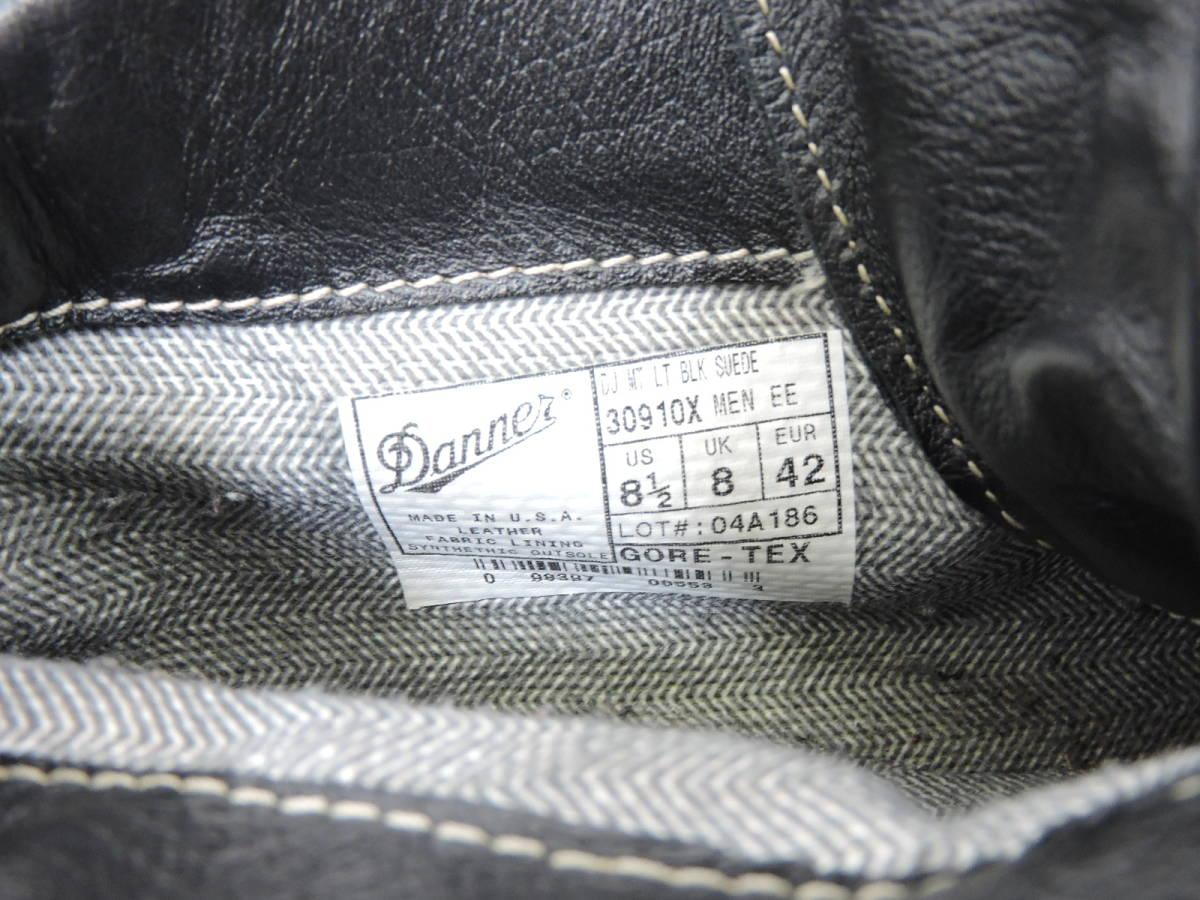 [153S045] Danner MOUNTAIN LIGHT BLACK SUEDE 30910X サイズ 26.5 / ダナー マウンテンライト ブーツ ブラック スエード メンズ 中古品_画像9