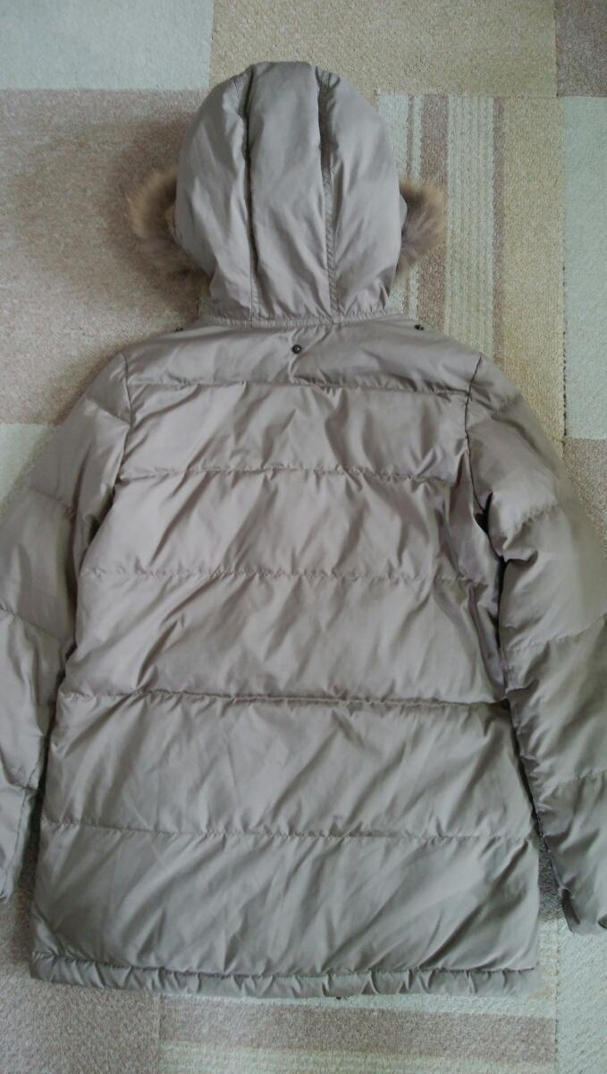INED(イネド) リアルファーフード付きダウンジャケット カラー:カーキ系 表示サイズ:7