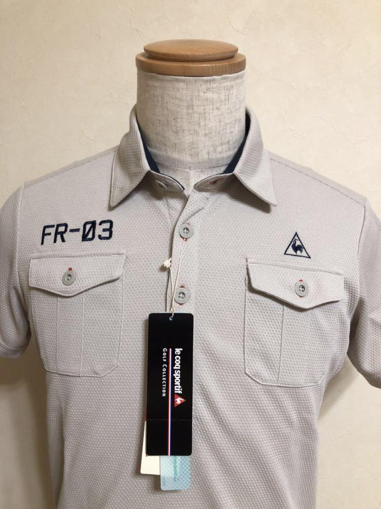 【新品】 le coq sportif GOLF COLLECTION ルコック ゴルフ コレクション ドライポロシャツ トップス サイズS 半袖 QG2973 吸汗速乾 UVケア_画像3