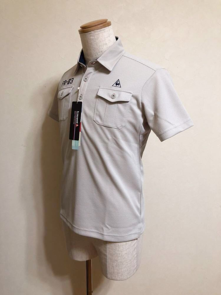 【新品】 le coq sportif GOLF COLLECTION ルコック ゴルフ コレクション ドライポロシャツ トップス サイズS 半袖 QG2973 吸汗速乾 UVケア_画像6