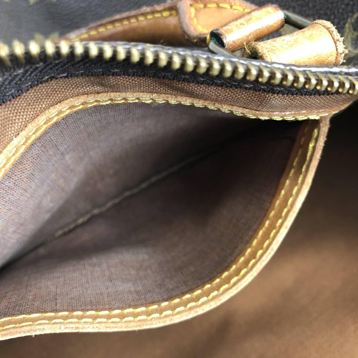ジャンク品【3点セット】LOUIS VUITTON ルイヴィトン モノグラム スピーディ40 M41522 ボストンバッグ ハンドバッグ セカンドバッグ_画像7