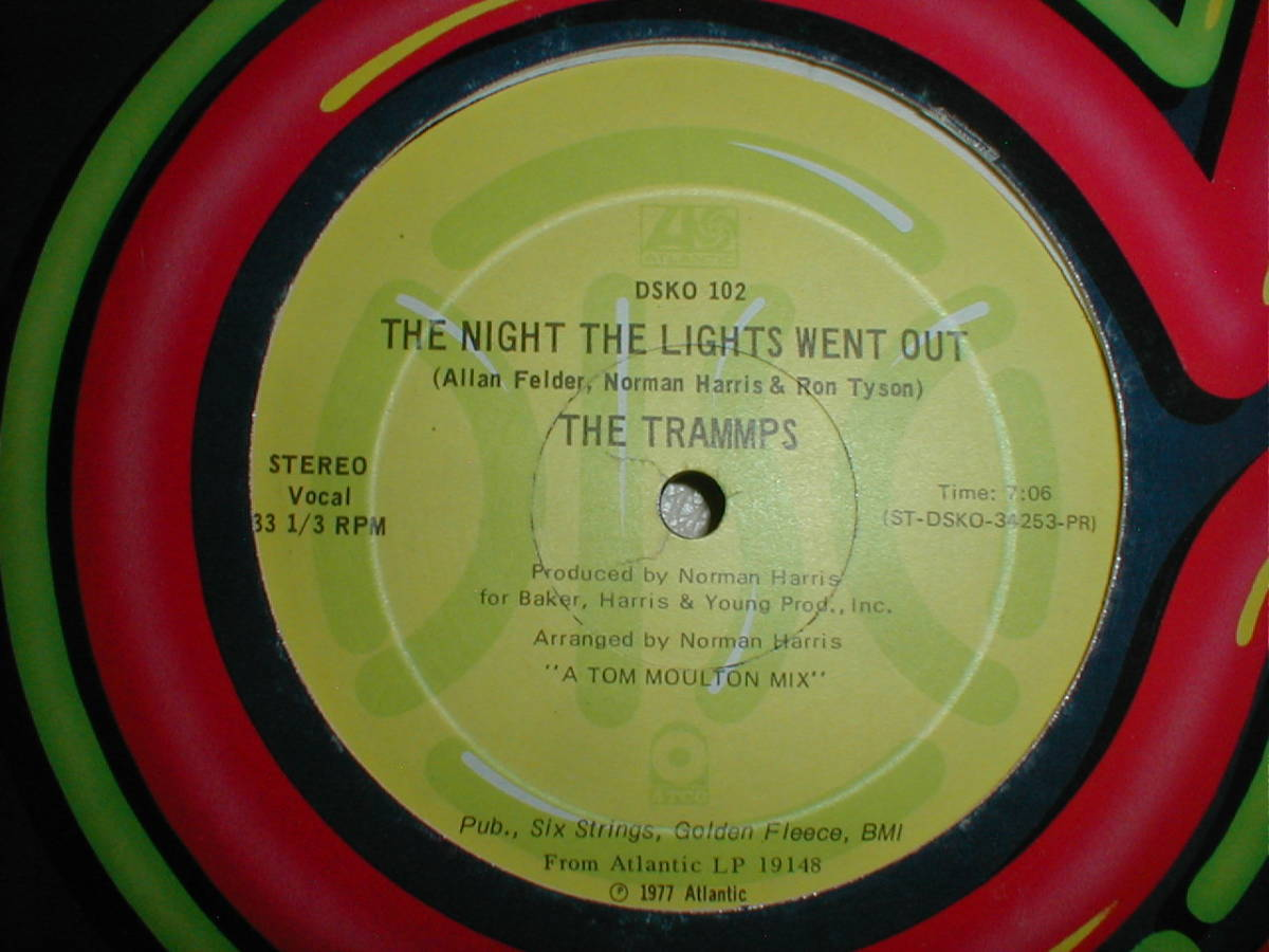 The Trammps - The Night The Lights Went Out 12 INCH_画像2