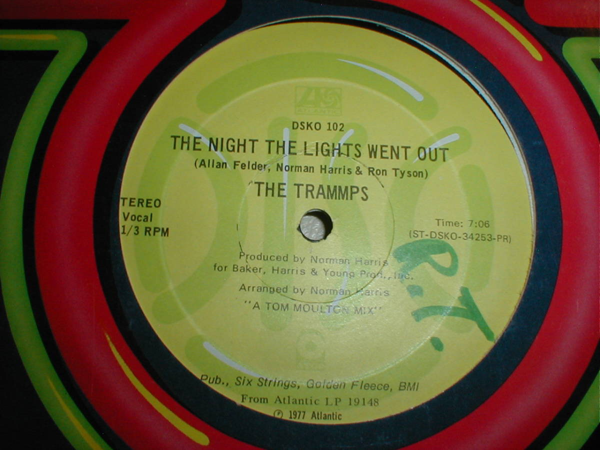 The Trammps - The Night The Lights Went Out 12 INCH_画像1