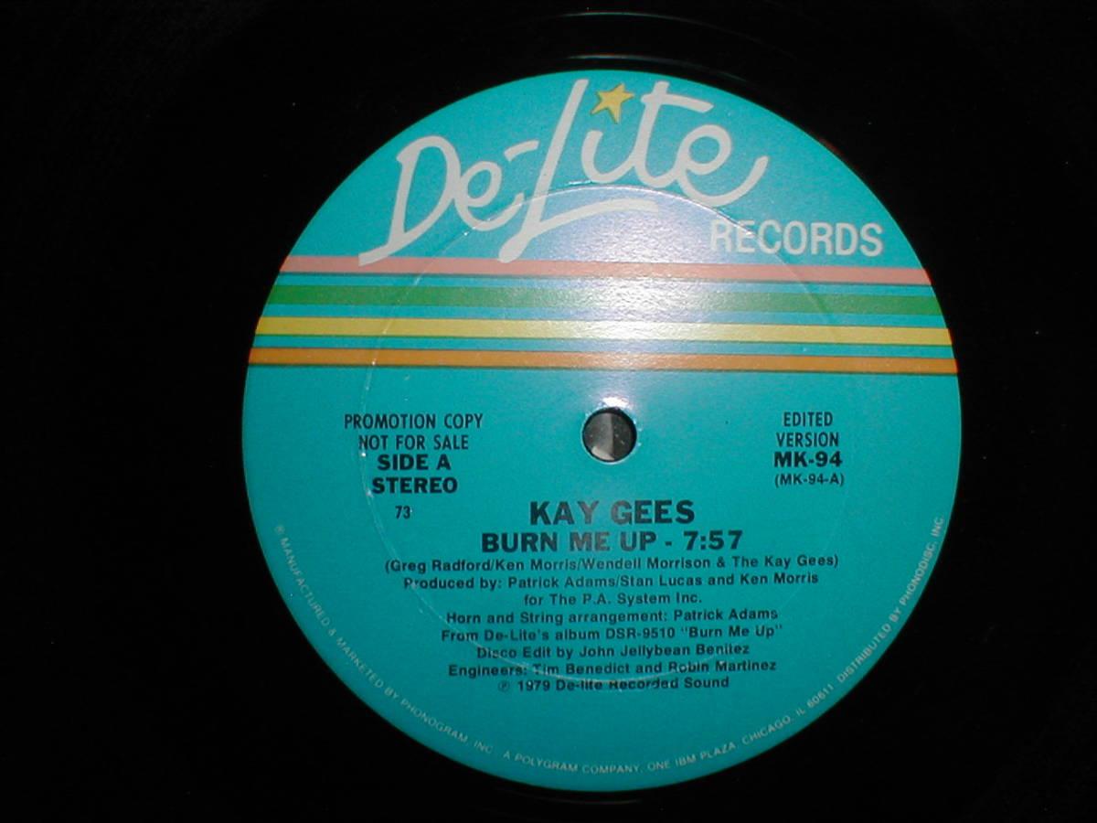 Kay-Gee's - Burn Me Up 12 INCH_画像2