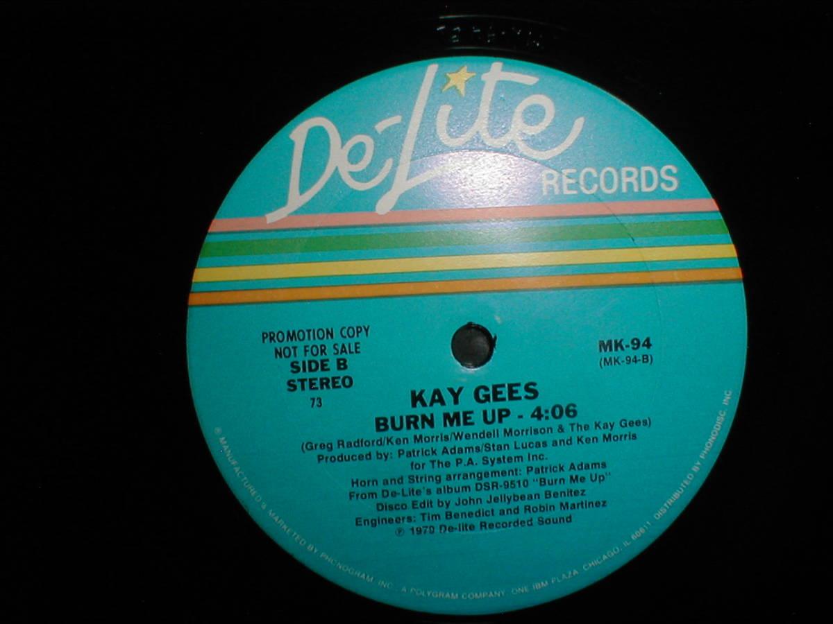 Kay-Gee's - Burn Me Up 12 INCH_画像3