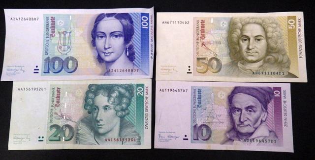 外国紙幣/ドイツ/100マルク/50マルク/20マルク/10マルク/4枚セット/1円スタート☆Q536