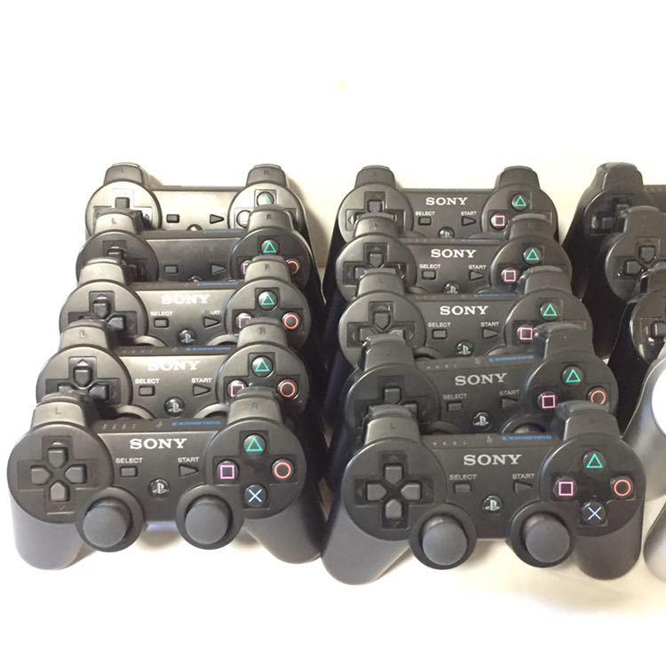 ☆SONY 純正 PS3コントローラー20台+互換品2台 計22台セット☆ DUALSHOCK3 19台 SIXAXIS 1台 他社互換品2台☆ジャンク☆デュアルショック3_画像2