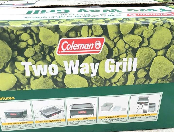【人気】コールマン ツーウェイグリル 170-9015 Coleman 正規品 新品 同様 未使用品 BBQ バーべキュー_画像3