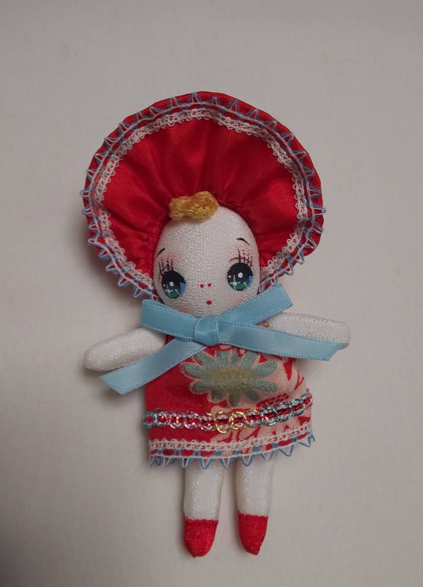 heartdolls*手作りミニ文化ちゃん 12cm位 文化人形  お持たせ人形 昭和レトロ ドールハウス お土産等