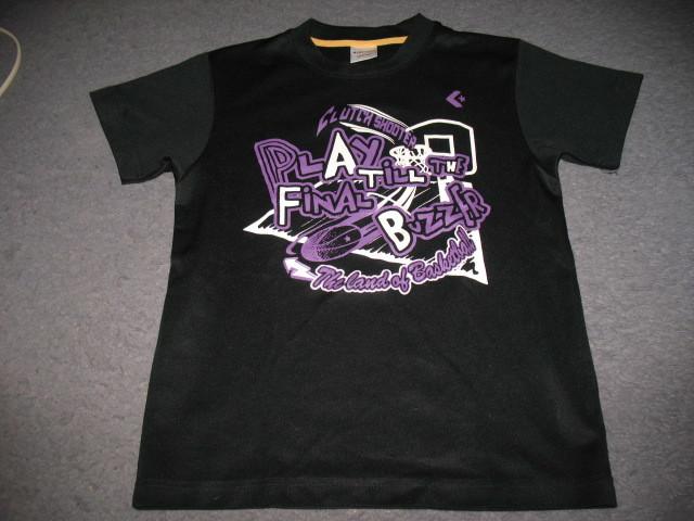 コンバース 半袖Tシャツ140 バスケットボール柄