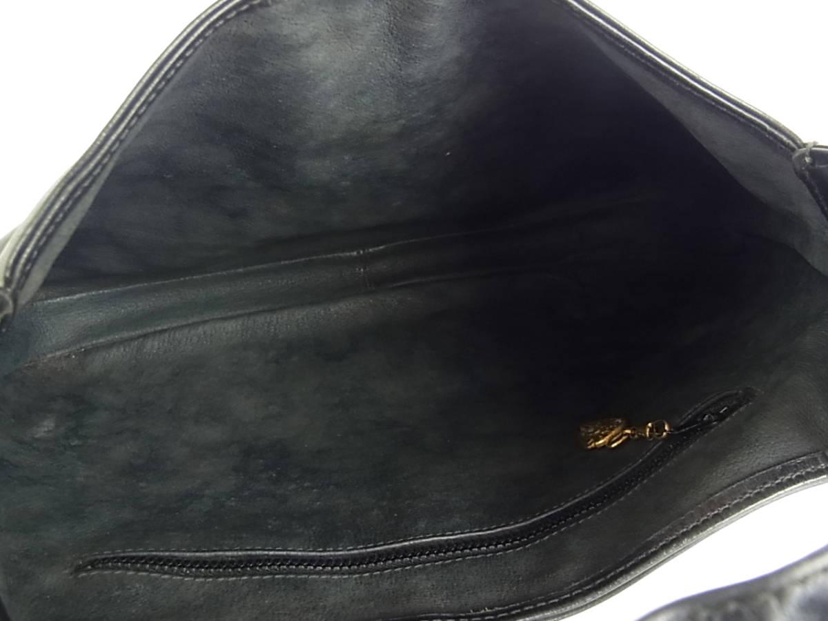 1円 オールド グッチ GUCCI ヴィンテージ イタリア製 ニュージャッキー シェリー ウェビングライン レザー 肩がけ ロング ショルダーバッグ_画像8