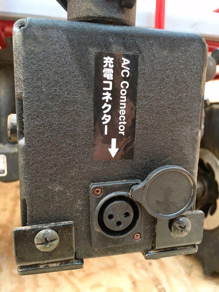 ジャンク 中古 CANYCOM 筑水キャニコム ついてくるか~い マルチ電動カート 充電式 運搬車 JASPER ジャスパー EJ10 100kg お引取り_画像8
