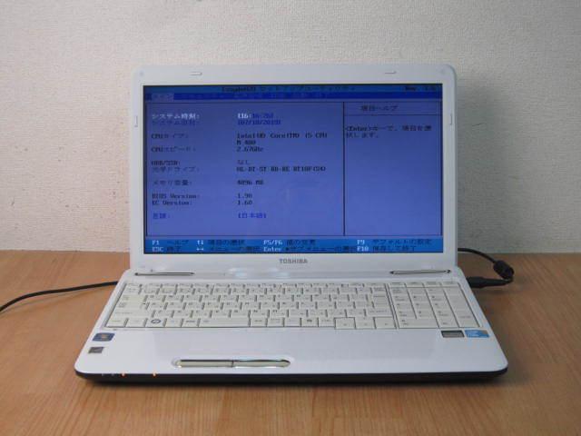 TOSHIBA T350/56BW i5 M480 4GB HDDなし 管KG10G