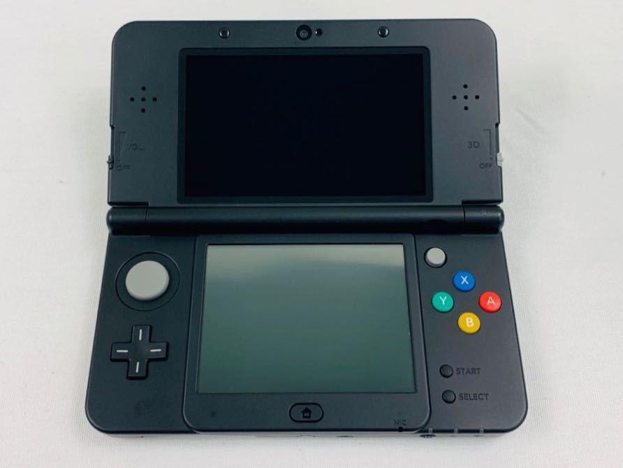 G7145 NEW NINTENDO 3DS 本体 ブラック 完品 着せ替えカバー取り付け済み SDカード挿入済み 動作確認済み 画面美品 中古_画像8