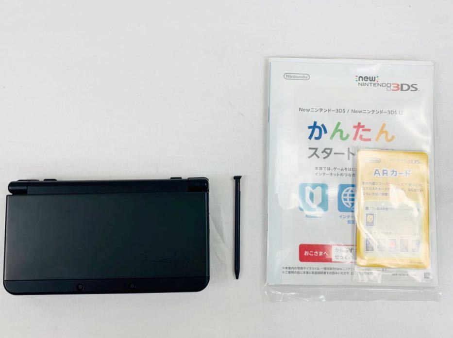 G7145 NEW NINTENDO 3DS 本体 ブラック 完品 着せ替えカバー取り付け済み SDカード挿入済み 動作確認済み 画面美品 中古_画像3