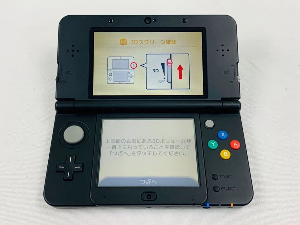 G7145 NEW NINTENDO 3DS 本体 ブラック 完品 着せ替えカバー取り付け済み SDカード挿入済み 動作確認済み 画面美品 中古_画像9