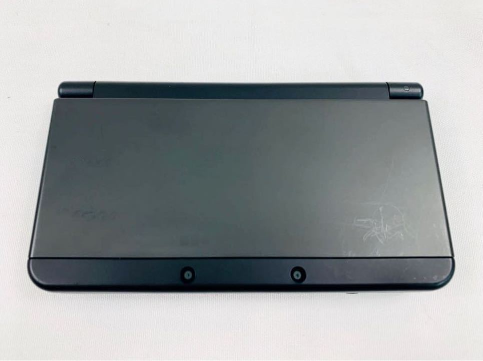 G7145 NEW NINTENDO 3DS 本体 ブラック 完品 着せ替えカバー取り付け済み SDカード挿入済み 動作確認済み 画面美品 中古_画像4