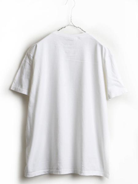 90's ■ Calvin Klein Jeans カルバンクライン ジーンズ CK ロゴ プリント 半袖 Tシャツ ( メンズ 男性 M ) 90年代 古着 半袖Tシャツ 白_画像4