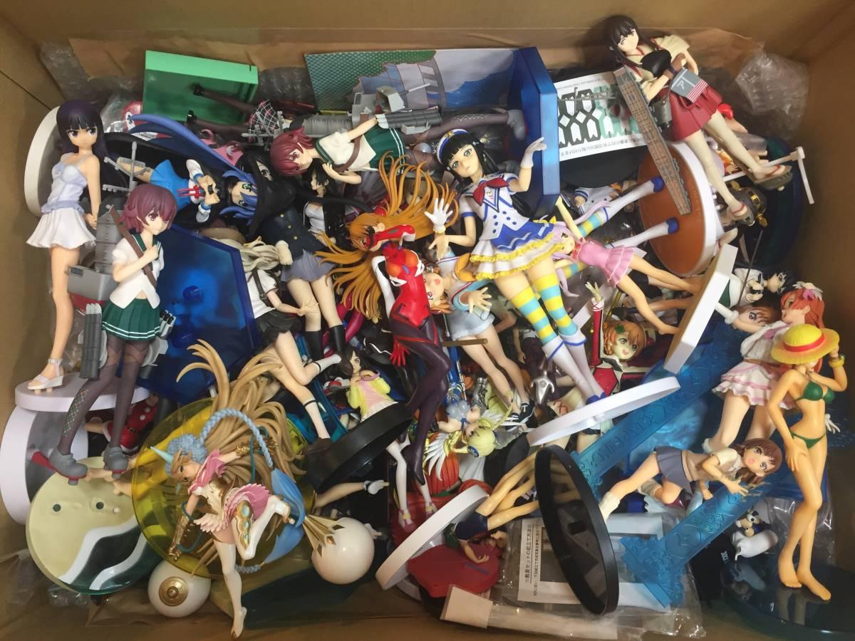 ジャンク品 美少女系フィギュア 100個~ まとめセット /ラブライブ けいおん 物語 エヴァ ワンピース 初音ミク 艦これ