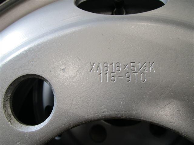 スタッドレス 205/65R16 DUNLOP LT03 新品未使用 三菱キャンター XAB16×5.5K 115-9TC 5穴 両面再塗装 6本セット_画像4