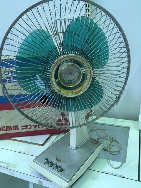 昭和レトロ MITSUBISHI 扇風機 コンパック/三菱電機 D30-H9 稼働品☆中古・元箱入り