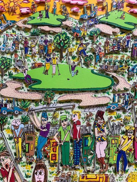 JAMES RIZZI ジェームス・リジィ 3D作品『TOO MANY PEOPLE PLAYING GOLF』57/350
