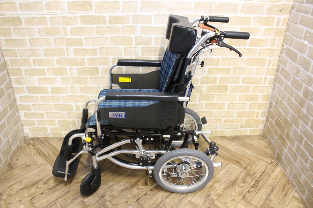 【美品】 Miki/ミキ Wheel Chair 介助型 ティルト仕様 折り畳み 車椅子 SKT-7 (W-4324)_画像10