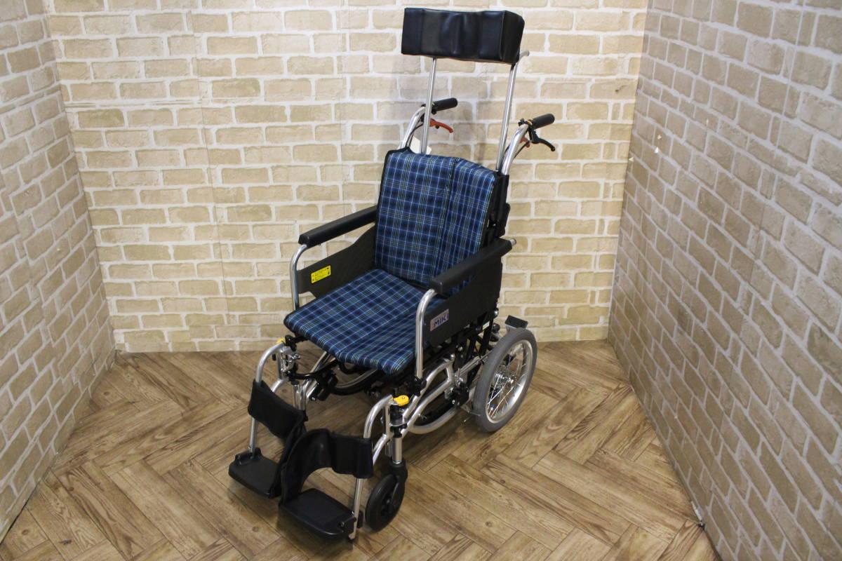 【美品】 Miki/ミキ Wheel Chair 介助型 ティルト仕様 折り畳み 車椅子 SKT-7 (W-4324)
