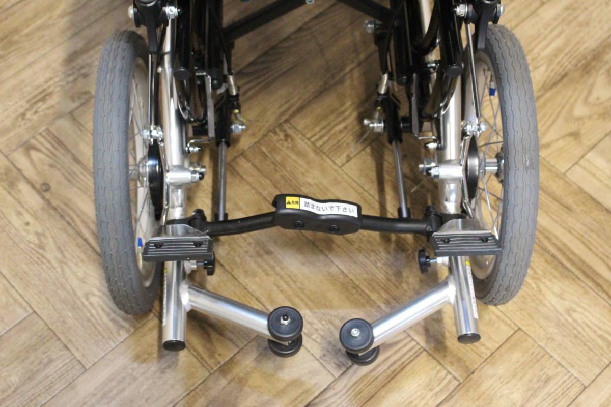 【美品】 Miki/ミキ Wheel Chair 介助型 ティルト仕様 折り畳み 車椅子 SKT-7 (W-4324)_画像5
