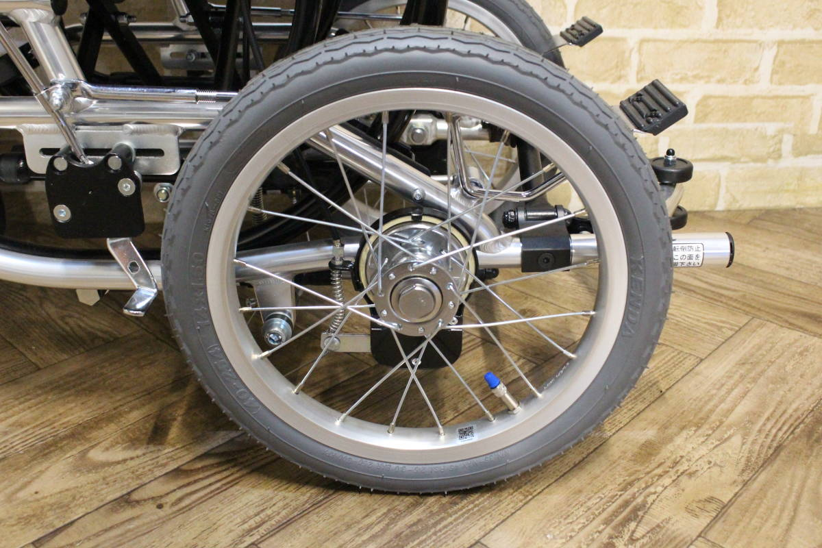 【美品】 Miki/ミキ Wheel Chair 介助型 ティルト仕様 折り畳み 車椅子 SKT-7 (W-4324)_画像6