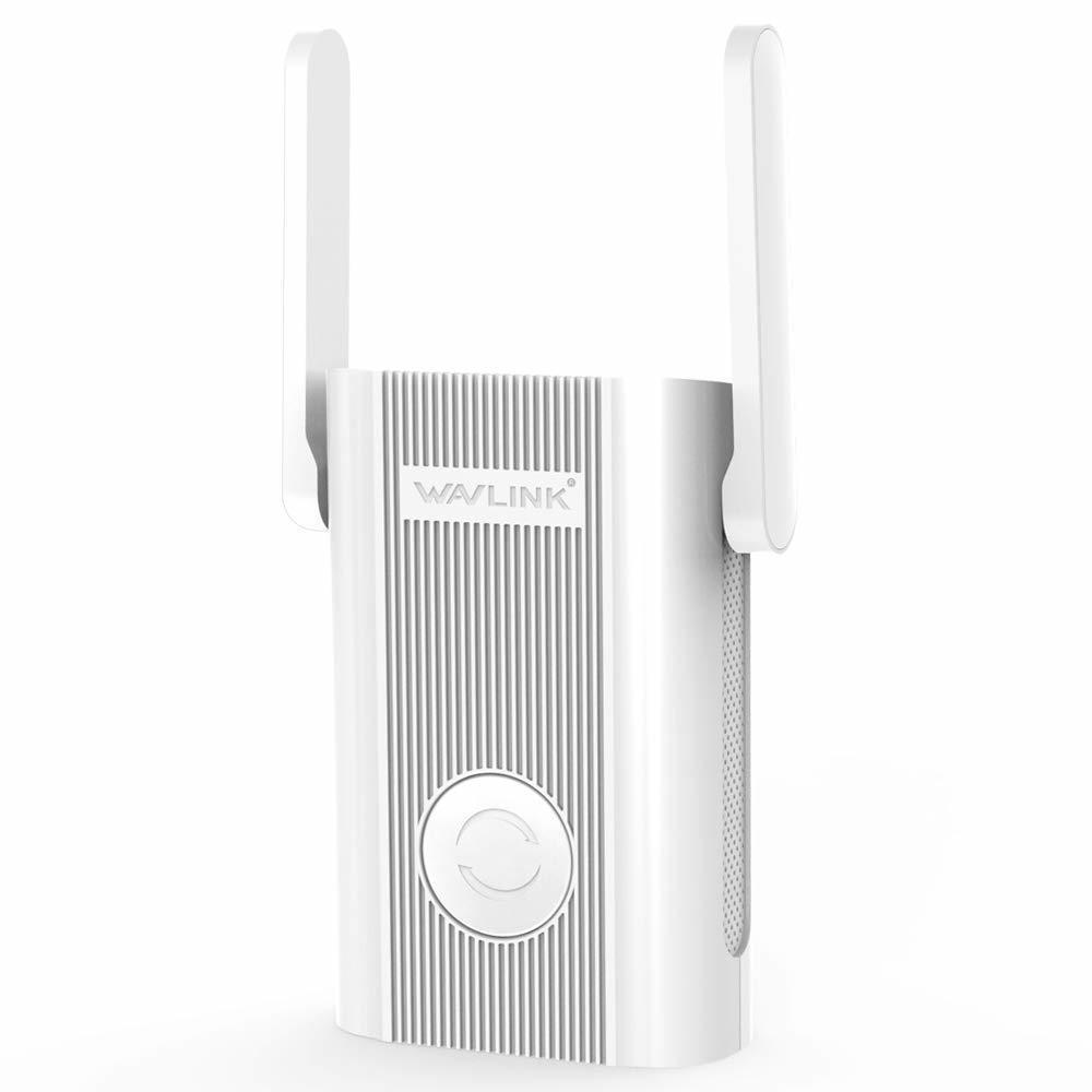 【新品】 ★1円スタート★ WiFi 無線LAN 中継器 AC1200 867+300mbpsハイパワー ブリッジ デュアルバンド 有線LAN付き コンセント直挿し