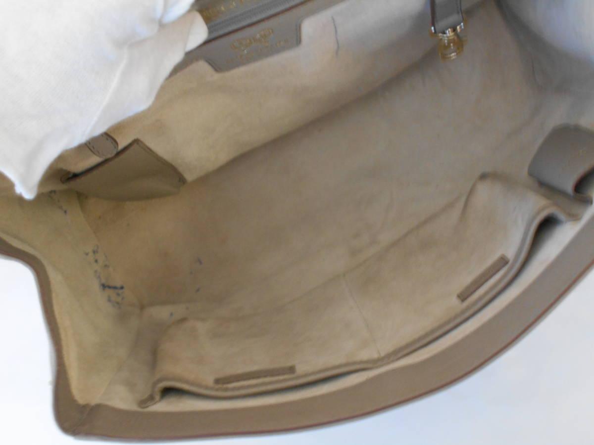 GH18 ANYA HINDMARCHI アニヤハインドマーチ ハンドバッグ バイカラー イタリア製 レザー ブラック×グレー_画像5