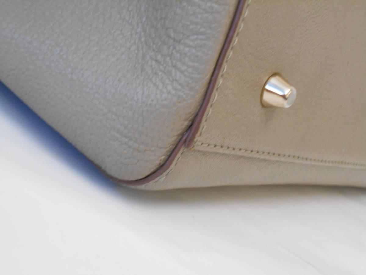 GH18 ANYA HINDMARCHI アニヤハインドマーチ ハンドバッグ バイカラー イタリア製 レザー ブラック×グレー_画像9