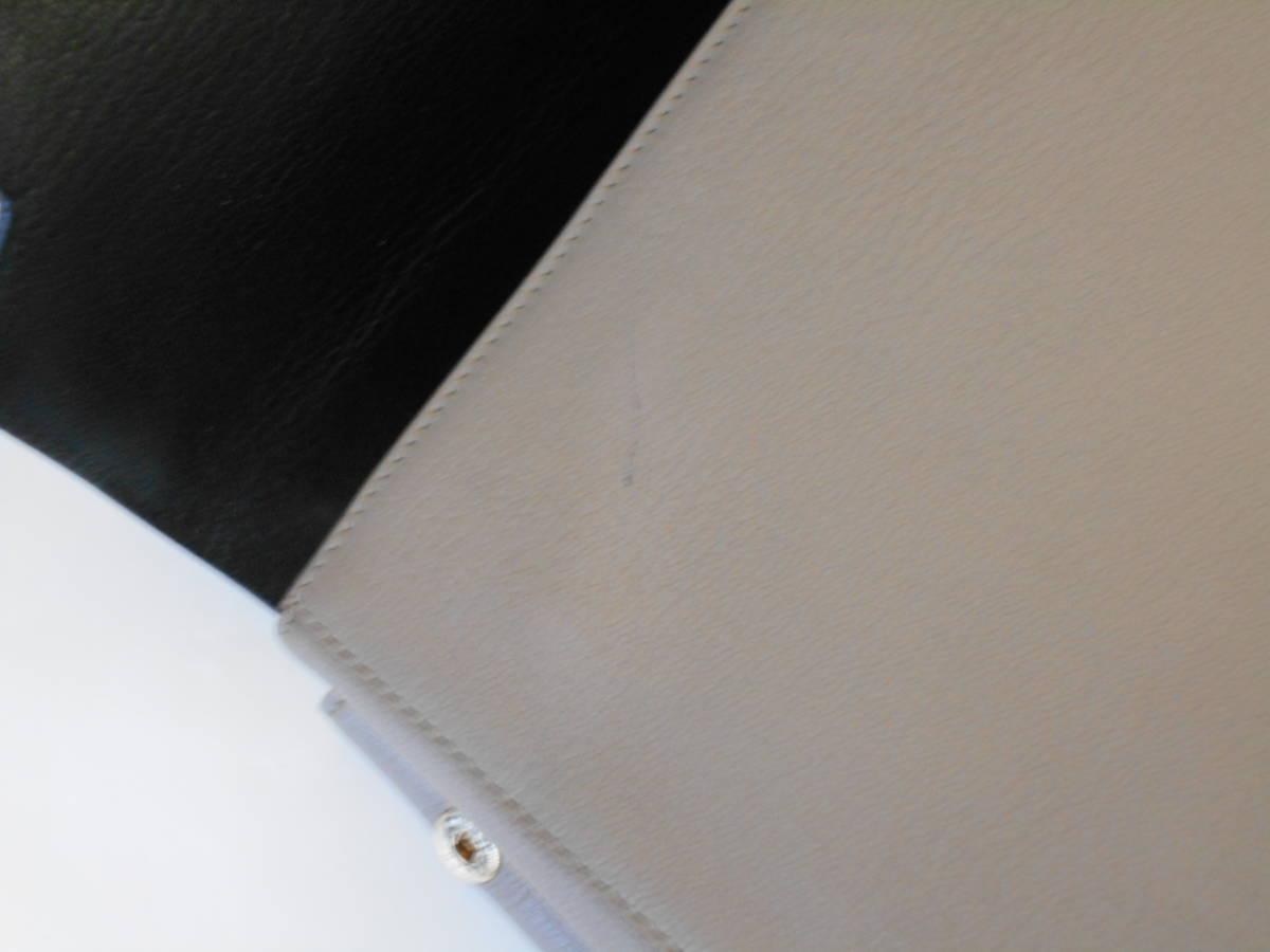 GH18 ANYA HINDMARCHI アニヤハインドマーチ ハンドバッグ バイカラー イタリア製 レザー ブラック×グレー_画像8