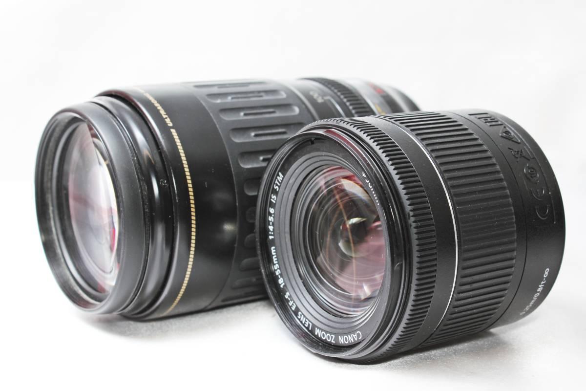★【新品未使用 ダブルレンズ スターターセット】 Canon EOS Kiss X9i ★EF-S18-55 IS STM 超望遠 EF100-300 USM ★自撮りOK 取説つき_画像5