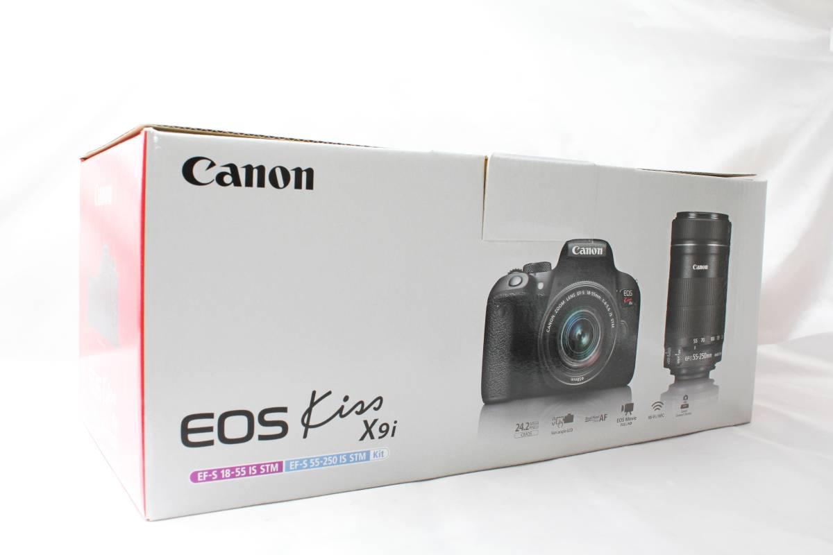★【新品未使用 ダブルレンズ スターターセット】 Canon EOS Kiss X9i ★EF-S18-55 IS STM 超望遠 EF100-300 USM ★自撮りOK 取説つき_画像9