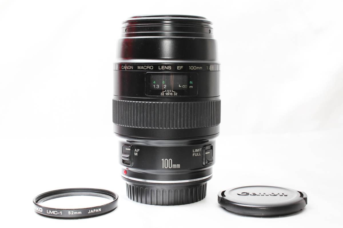 ★【極上美品】Canon EF100mm F2.8 ★人気の大口径単焦点レンズ まろやかなボケ味