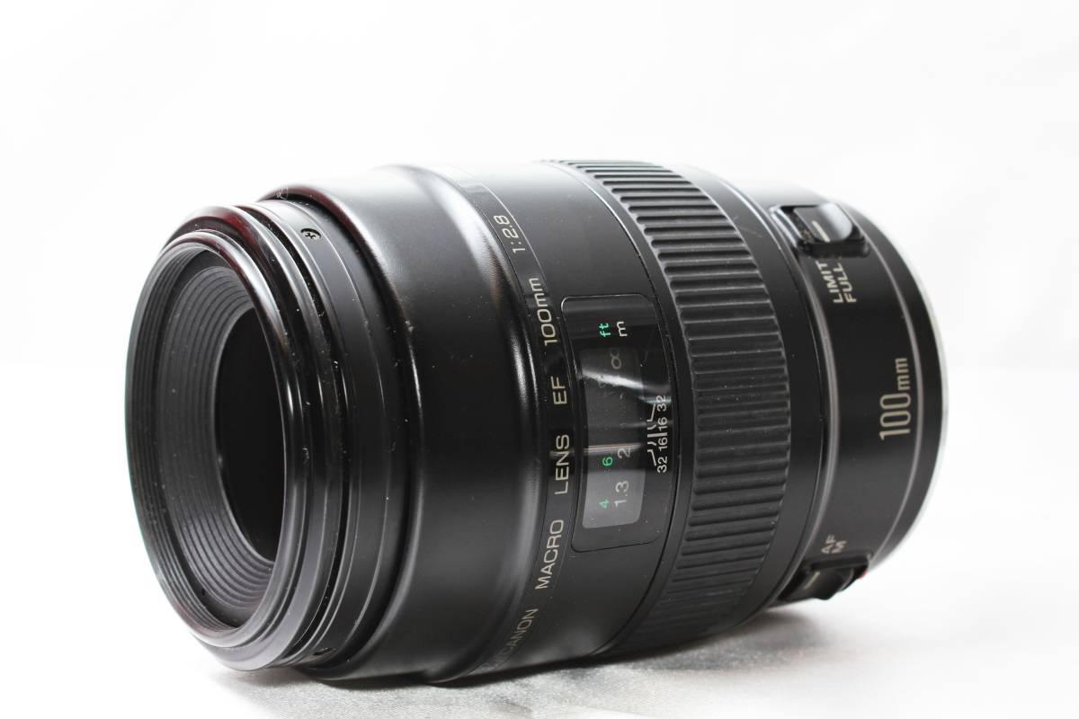 ★【極上美品】Canon EF100mm F2.8 ★人気の大口径単焦点レンズ まろやかなボケ味_画像2