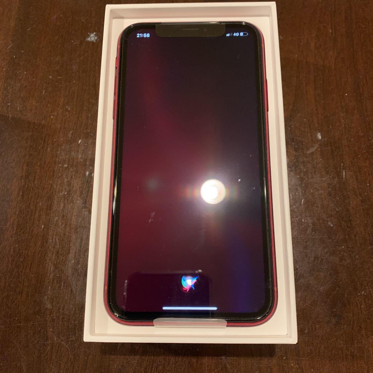【新品】iPhone XR/SIMフリー/SIM Free/赤/プロダクトレッド/Product red/64GB / MT062 J/A / au 解除品【未使用】_画像4