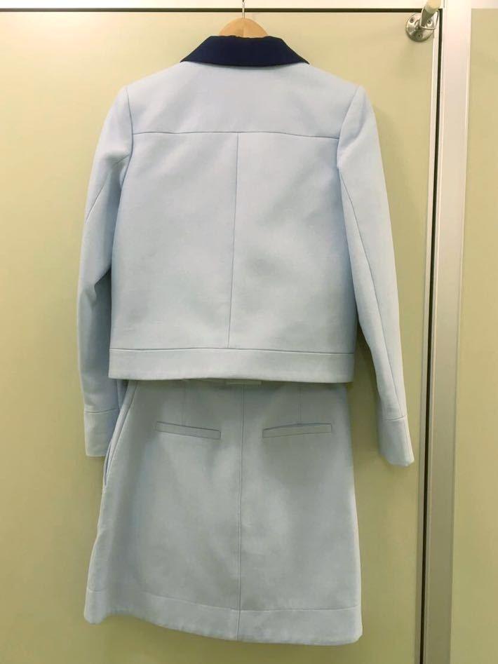 【CARVEN 】カルヴェン水色セットアップ 丸ラペル スカート36スーツOPENING CEREMONY取扱い(vivienne)_画像3
