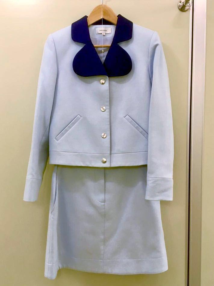 【CARVEN 】カルヴェン水色セットアップ 丸ラペル スカート36スーツOPENING CEREMONY取扱い(vivienne)_画像2