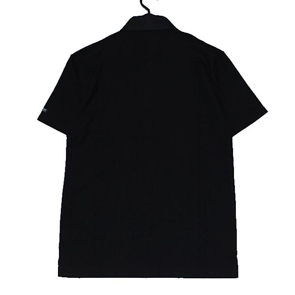 新品 バーバリーブラックレーベル ホース刺繍【日本製】前立てノバチェック 鹿の子 キレイ目 半袖ポロシャツ 2(M)■BURBERRY BLACK LABEL_画像3