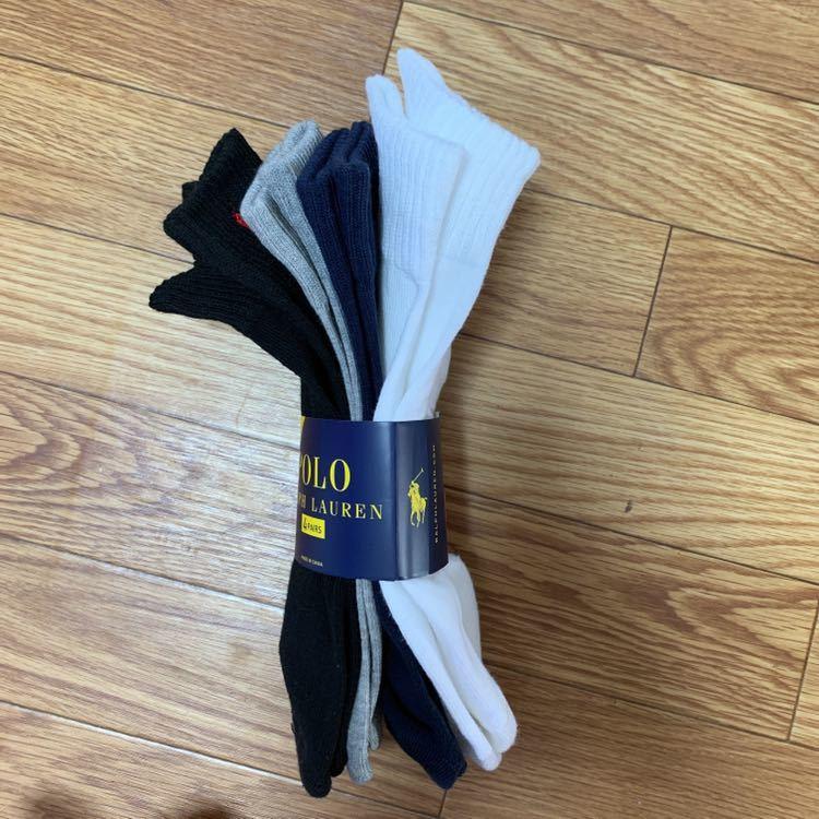 ♪1回限りの出品♪ 新品 ラルフローレン 4足セット ソックス 靴下 メンズ 322_画像3