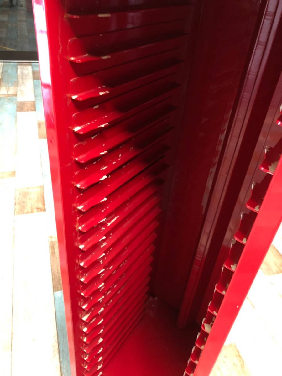 【UCHIDA】 クリスタル キャビネット トレー 1列 浅型 22段 業務用 オフィス 書類 収納 棚 引き出し 事務 ウチダ オシャレ 赤 レッド _画像8