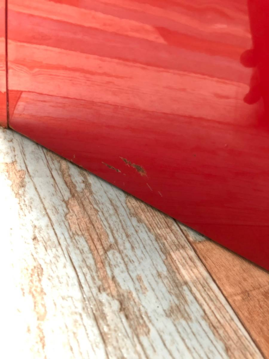 【UCHIDA】 クリスタル キャビネット トレー 1列 浅型 22段 業務用 オフィス 書類 収納 棚 引き出し 事務 ウチダ オシャレ 赤 レッド _画像9