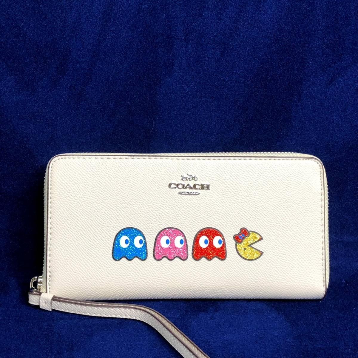 COACH/レザーパックマンゴースト マルチカラー携帯長財布/直営アウトレット