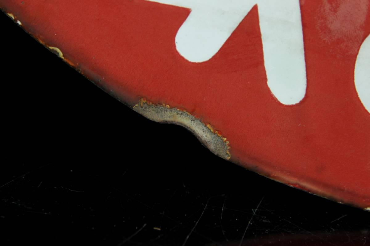 ◆櫟◆2 時代 不二家 ペコちゃん 看板 45cm ホーロー 昭和レトロ [V193]RU/6FMd/(100)_画像9