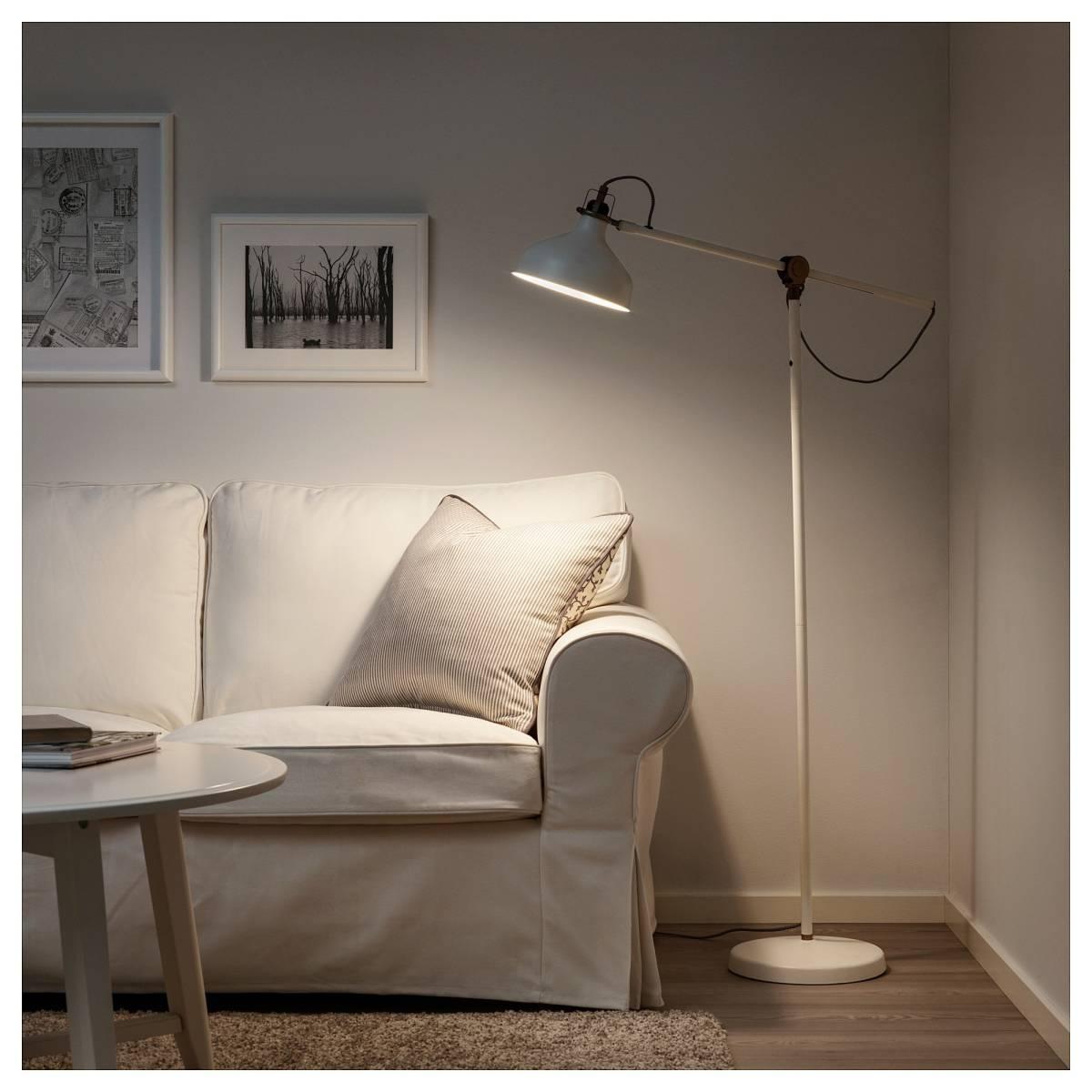 [美品]IKEA RANARP フロアランプ 間接 照明 ライト 読書 ラウンジ オフホワイト 白 無機質 インテリア 北欧[IKEA無印良品大量出品中♪]_画像7